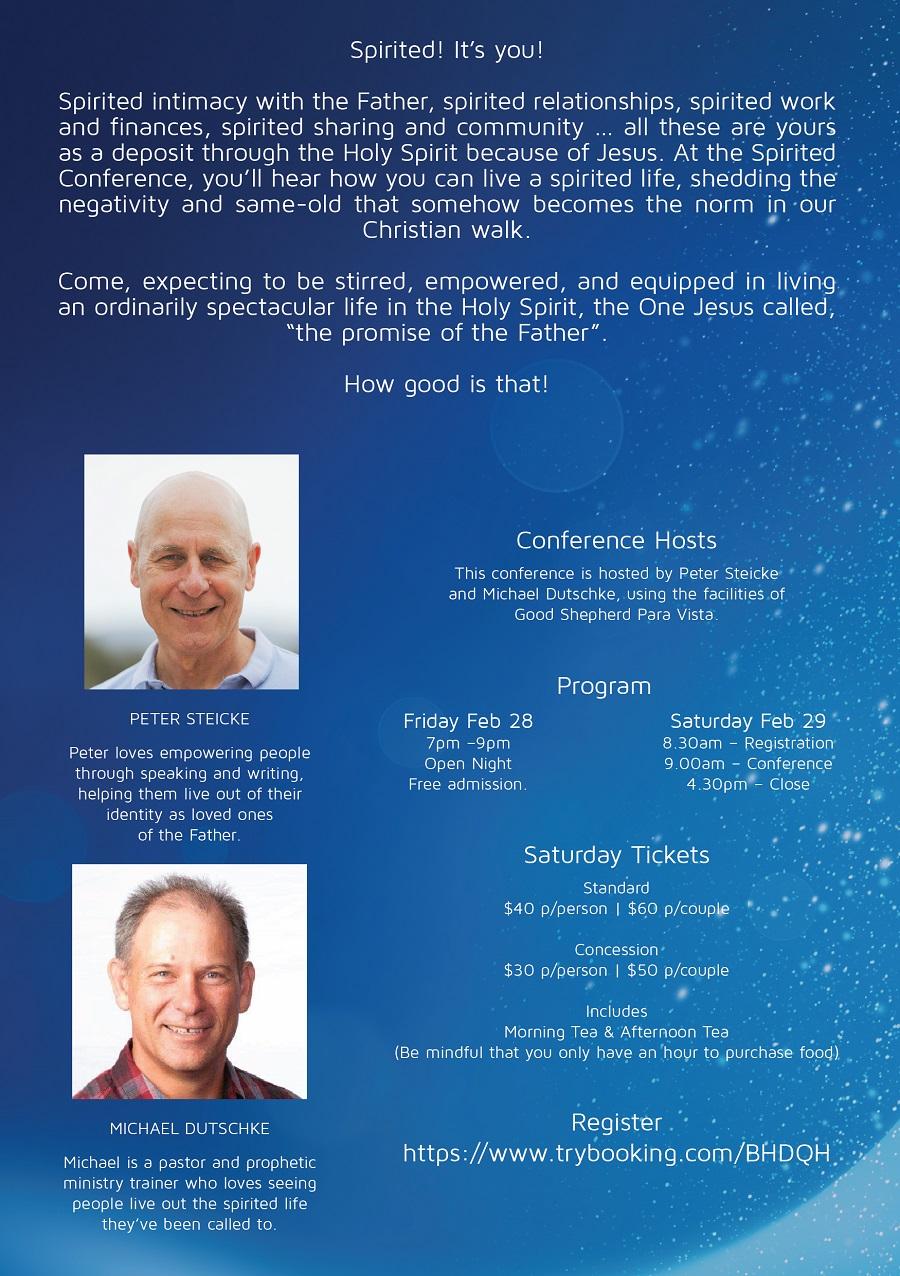 Spirited Conference Details
